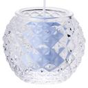 ダイヤモンドボール【ライトブルー】 キャンドルリレー用 長芯 グラスキャンドル