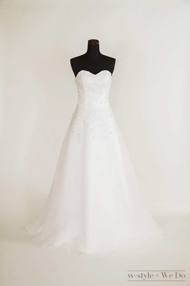 ハートカットの王道Aラインドレス