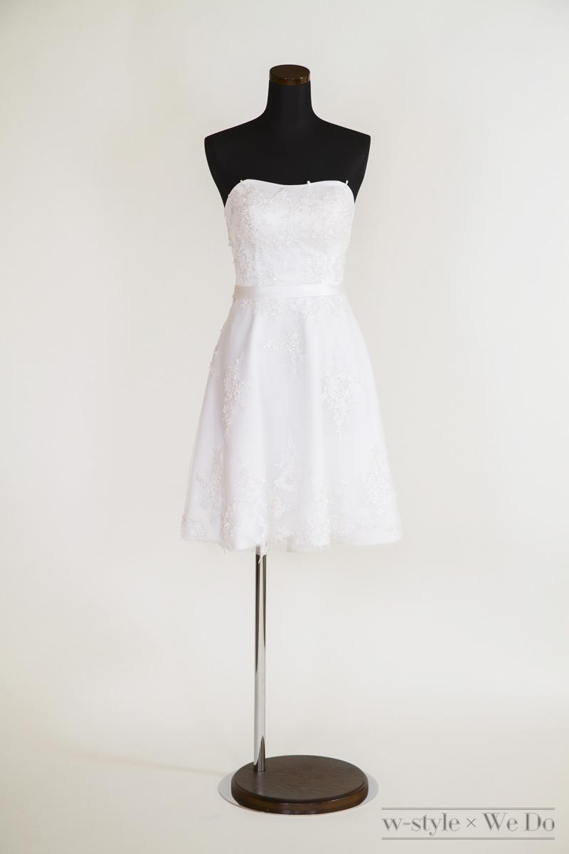 二次会やレストランウエディングに大人気のミニ丈ドレス