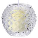 ダイヤモンドボール【アイボリー】 キャンドルリレー用 長芯 グラスキャンドル